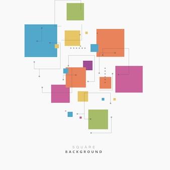 Vierkant verschillende actuele kleuren. mooi vectorontwerp