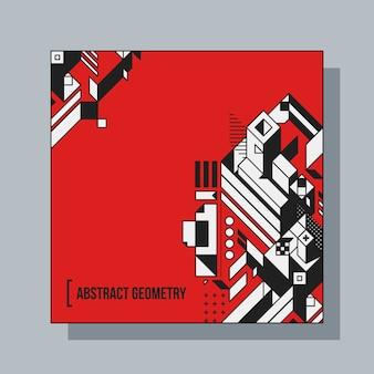 Vierkante achtergrond ontwerp sjabloon met abstracte geometrische elementen. nuttig voor cd-covers, reclame en posters.