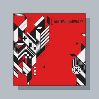 Vierkante achtergrond ontwerpsjabloon met abstracte geometrische elementen. handig voor cd-hoesjes, advertenties en posters.