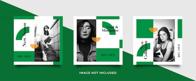 Vierkante banner sjabloon voor modewinkels