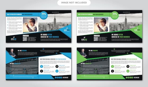 Vierkante bi-gevouwen brochure sjabloon