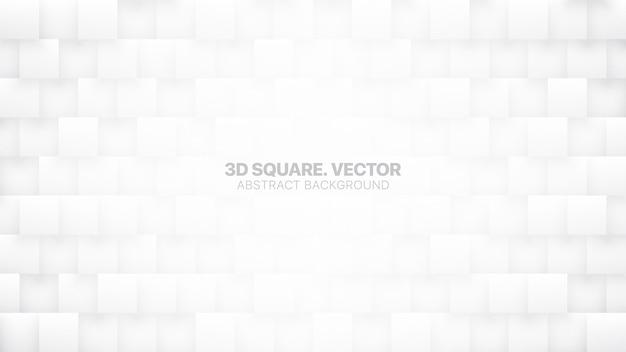 Vierkante blokken patroon technologische minimalistische witte abstracte achtergrond