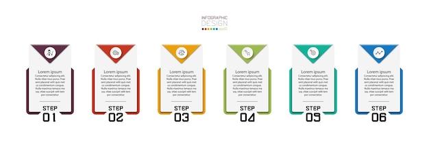 Vierkante borden worden gebruikt om in de vorm van banners, communicatieborden, brochures te presenteren en de workflow-infographic uit te leggen