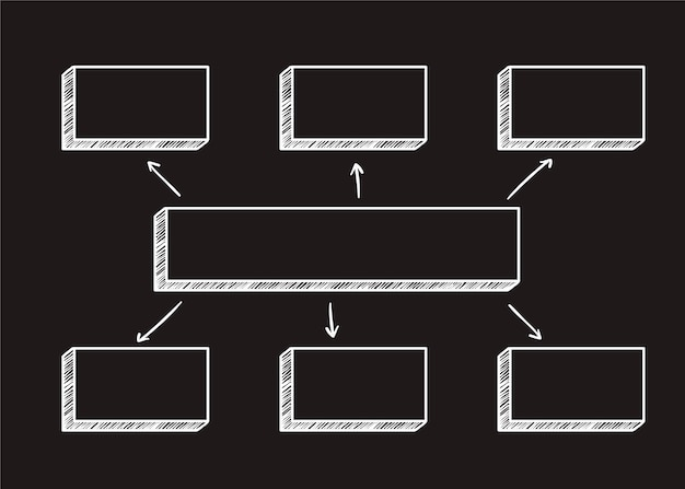 Vierkante diagramillustratie