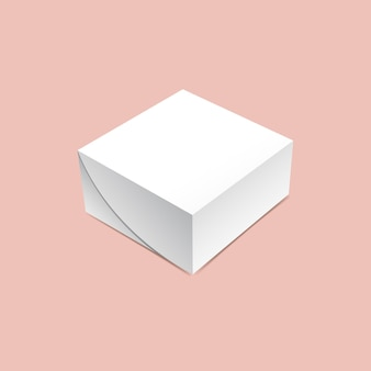 Vierkante doos mock-up
