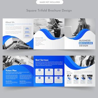 Vierkante driebladige brochure