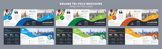 Vierkante driebladige brochuremalplaatje