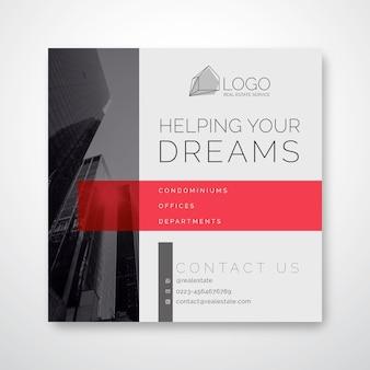 Vierkante flyer-sjabloon voor het bedrijfsleven