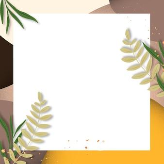 Vierkante frame op natuur landschap-achtergrond
