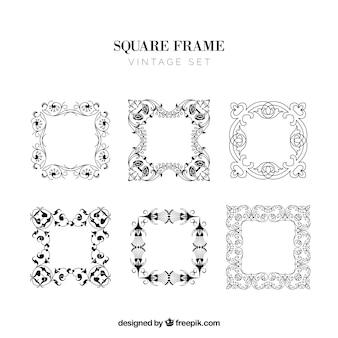 Vierkante frames set