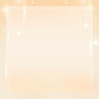 Vierkante gouden frame achtergrond