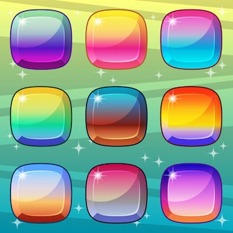 Vierkante gradiëntkleurenstijl die helder en glanzend is