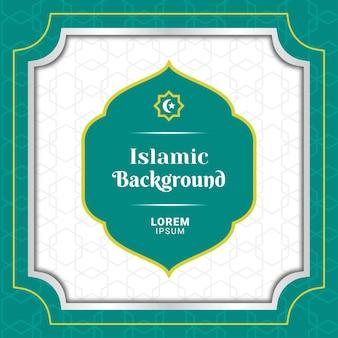 Vierkante islamitische achtergrond