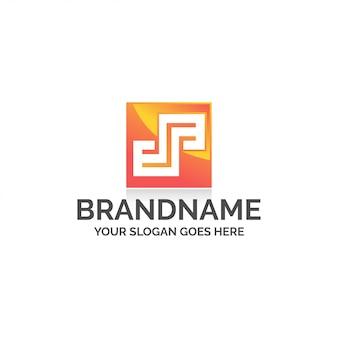 Vierkante letter s logo
