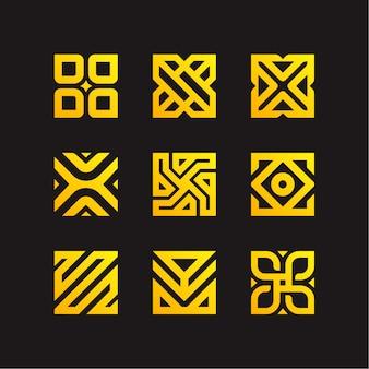 Vierkante logo-collectie