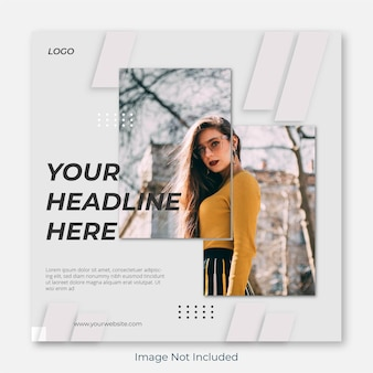 Vierkante mode instagram postsjabloon