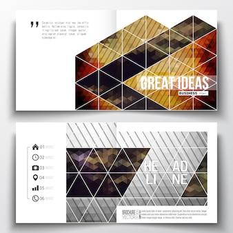 Vierkante ontwerpsjablonen voor brochure.