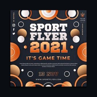 Vierkante sport flyer 2021-sjabloon