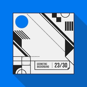 Vierkante tekst achtergrond met abstracte geometrische vormen. nuttig voor banners, covers en posters.