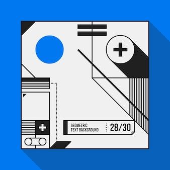 Vierkante tekstachtergrond met abstracte geometrische vormen. handig voor banners, covers en posters.