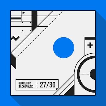 Vierkante tekstachtergrond met abstracte geometrische vormen