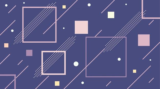 Vierkante vorm pastel kleur achtergrond geometrische sjabloon