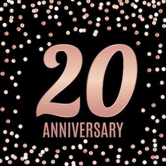 Viert verjaardag embleem sjabloonontwerp met gouden nummers poster achtergrond.