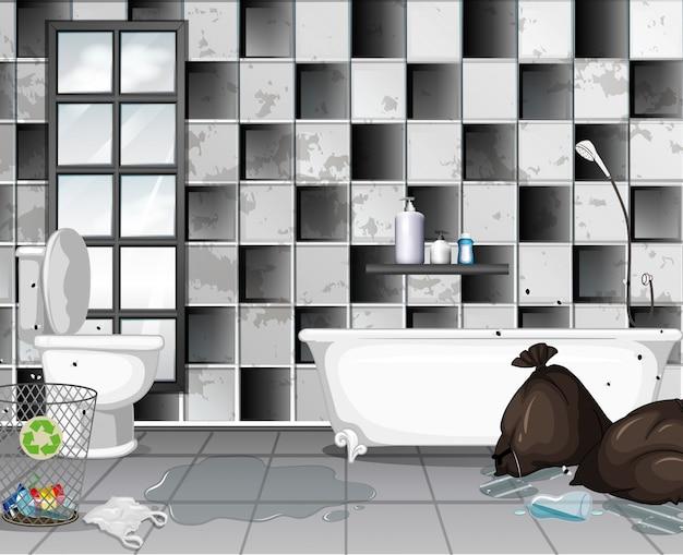 Vies met onzin badkamer scène