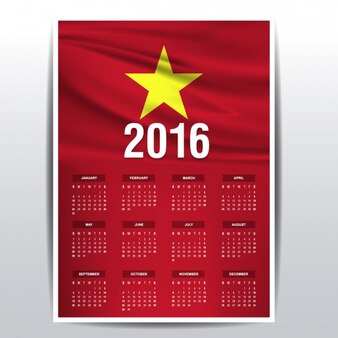Vietnam kalender van 2016