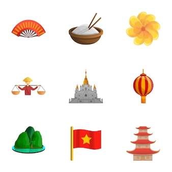 Vietnam set, cartoon stijl