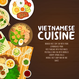 Vietnamese keuken restaurant poster.
