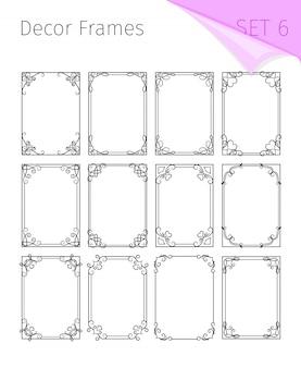 Vignet frames, art nouveau border decoratief