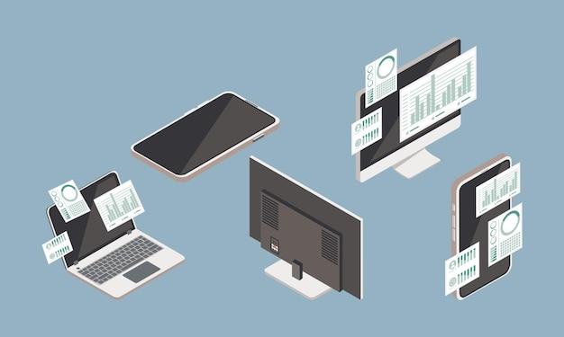 Vijf apparaten voor analytische gegevens