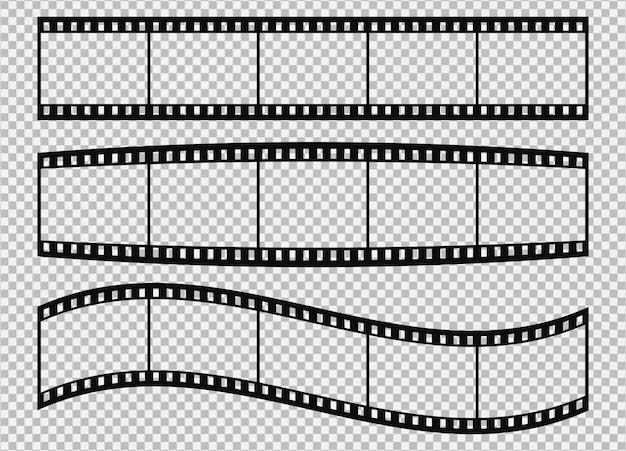 Vijf frames van klassieke 35 mm filmstrook.