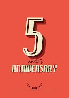 Vijf jaar jubileumaffichemalplaatje