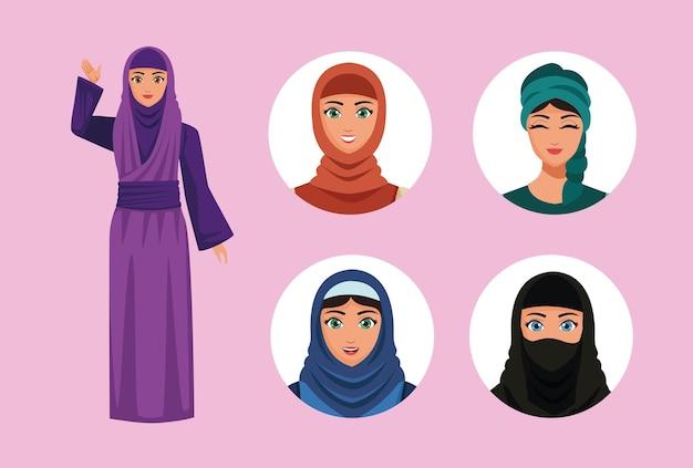 Vijf moslimvrouwen