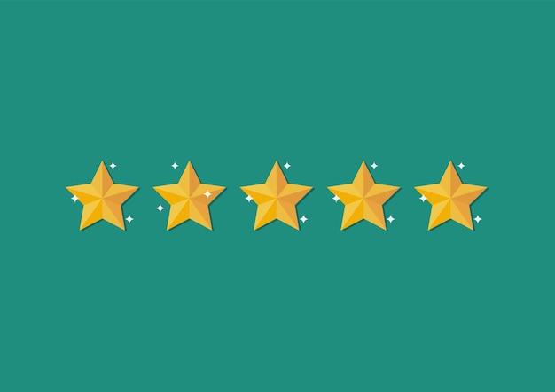 Vijf sterren. feedback met tevredenheidsscore.