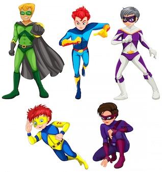 Vijf superhelden