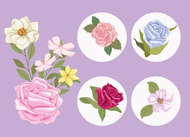 Vijf tuinpictogrammen