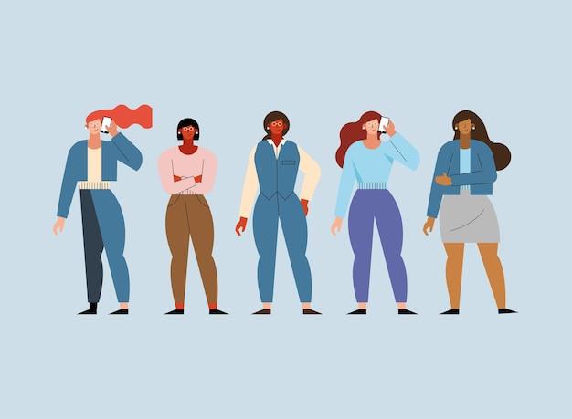 Vijf zakenvrouwen