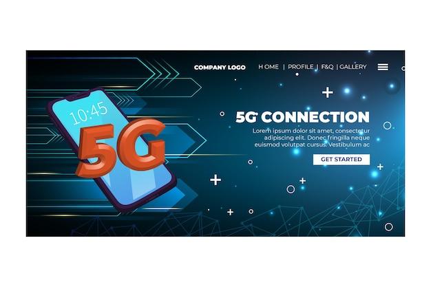 Vijfde generatie netwerklandingspagina-sjabloon