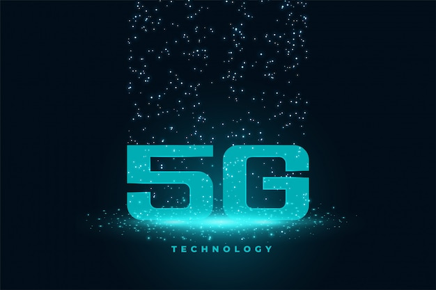 Vijfde generatie technologie concept techno achtergrond