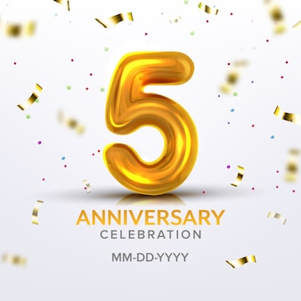 Vijfde verjaardag geboorte viering nummer