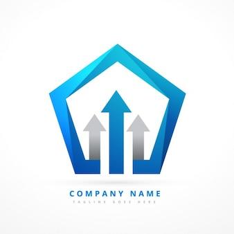Vijfhoekige logo template