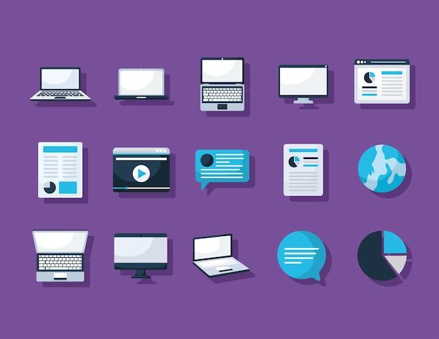 Vijftien laptops items
