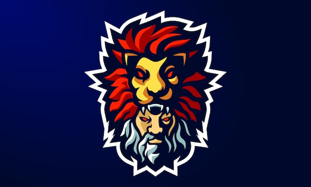 Viking esports mascotte logo ontwerp