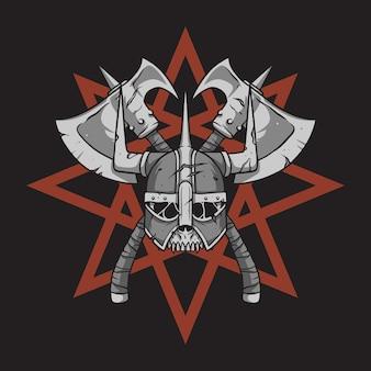 Viking helm achtergrond ster,