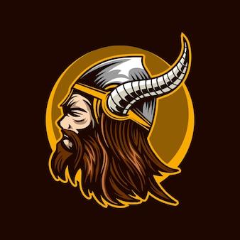 Viking het barbaarse hoofd
