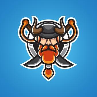 Viking hoofd sportmascot logo