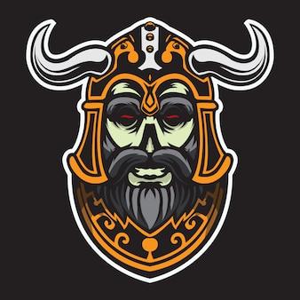 Viking hoofd vectorillustratie